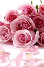 Preview iPhone wallpaper Romantic bouquet of pink roses