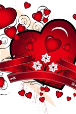 Preview iPhone wallpaper Romantic red heart