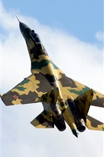 Preview iPhone wallpaper Russia Su-35 Camouflage fighter