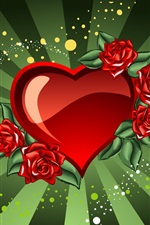 Preview iPhone wallpaper Saint Valentine's Day heart