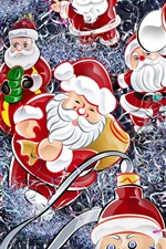 Preview iPhone wallpaper Santa Claus and gifts