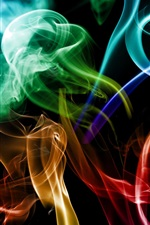 Preview iPhone wallpaper Smoke colored abstraction creative