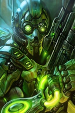 Preview iPhone wallpaper Starcraft 2 ghost cyborg
