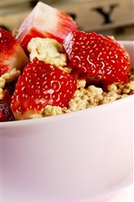 Preview iPhone wallpaper Strawberry cherry dish meal