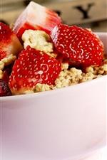 딸기 체리 요리 식사