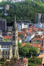 Preview iPhone wallpaper Stuttgart Germany City