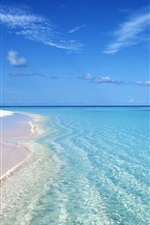 Preview iPhone wallpaper Summer blue beach wave