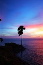태국 해변 아름다운 일몰