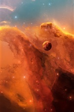 Preview iPhone wallpaper The red nebula in space