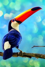 Preview iPhone wallpaper Toucan in the rainforest