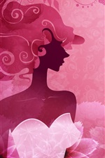 Preview iPhone wallpaper Vector woman pink stylish