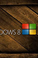 Preview iPhone wallpaper Windows 8 Wooden