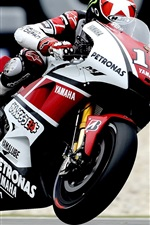Preview iPhone wallpaper Yamaha motorcycle racing