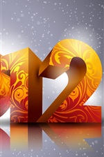 Preview iPhone wallpaper 2012 New Year