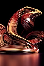 Preview iPhone wallpaper 3D abstract curve