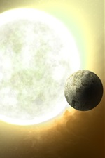 Preview iPhone wallpaper A distant star system