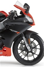 Preview iPhone wallpaper Aprilia road RS4 50 2011 motorcycle