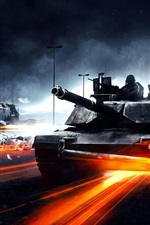 Preview iPhone wallpaper Battlefield 3 tanks