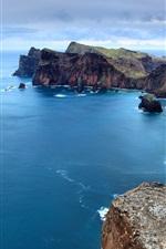 Preview iPhone wallpaper Beautiful coastal scenery