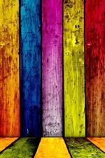 미리보기 iPhone 배경 화면 다채로운 나무 추상