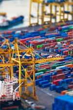Preview iPhone wallpaper Container port photography