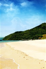 Preview iPhone wallpaper Dream beach and blue sky