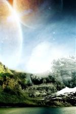 미리보기 iPhone 배경 화면 산과 물이 꿈의 세계