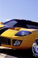Preview iPhone wallpaper Ford GT supercar