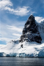 Preview iPhone wallpaper Ice and mountains landscape