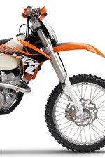 Preview iPhone wallpaper KTM 350 EXC-F 2012 motorcycle