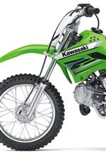 Preview iPhone wallpaper Kawasaki motocross KLX110 2012