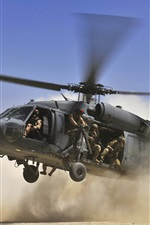 Preview iPhone wallpaper Military helicopter are landing