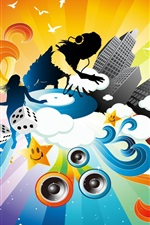 Preview iPhone wallpaper Music Colorful dynamic vector