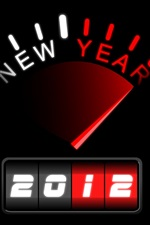 Preview iPhone wallpaper New year of 2012