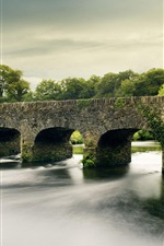 Preview iPhone wallpaper River and stone bridge
