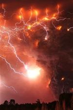 Preview iPhone wallpaper Sky lightning storm
