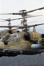 Preview iPhone wallpaper The Ka-52 helicopter flight
