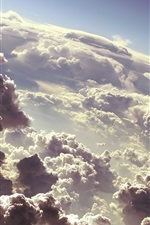 Preview iPhone wallpaper The dark clouds of the sky