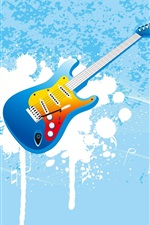 Preview iPhone wallpaper Vector guitar music