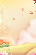 Preview iPhone wallpaper Vector illustration landscape