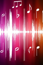 미리보기 iPhone 배경 화면 벡터 음악 스펙트럼