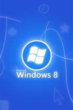 Preview iPhone wallpaper Windows 8 blue background
