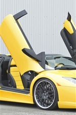 Preview iPhone wallpaper Yellow Lamborghini