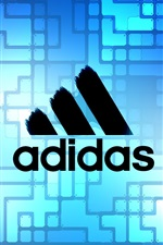 Preview iPhone wallpaper Adidas blue