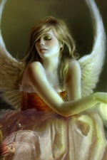 Preview iPhone wallpaper Angel girl elf wings
