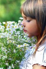 Menina linda flor
