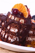 Preview iPhone wallpaper Chocolate cake dessert sweet food