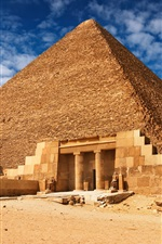 Preview iPhone wallpaper Egyptian pyramids construction landscape