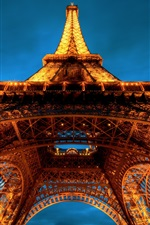 Preview iPhone wallpaper Eiffel Tower at night