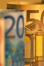 Preview iPhone wallpaper Euro currency macro